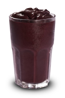 Acai juice in white surface.