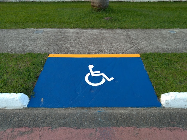 Access ramp for wheelchairs. accessibility for wheelchair users