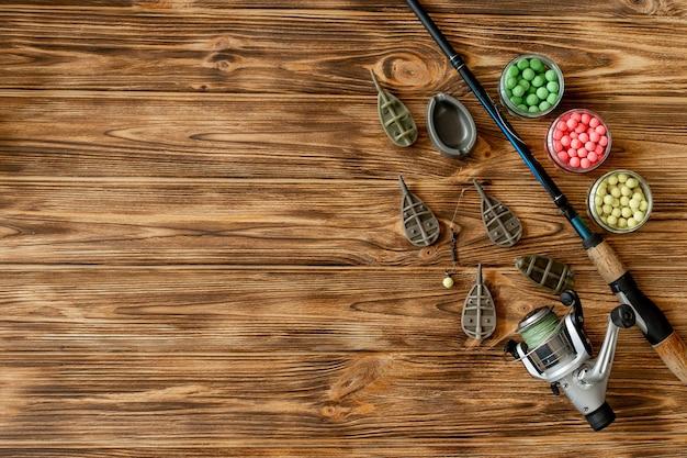 コイ釣りとコピー スペース付きの木製の板の釣り餌のアクセサリー