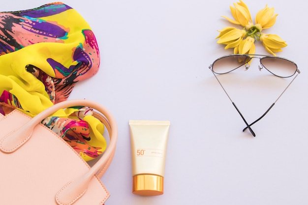 Accessories of lifestyle woman relax summer