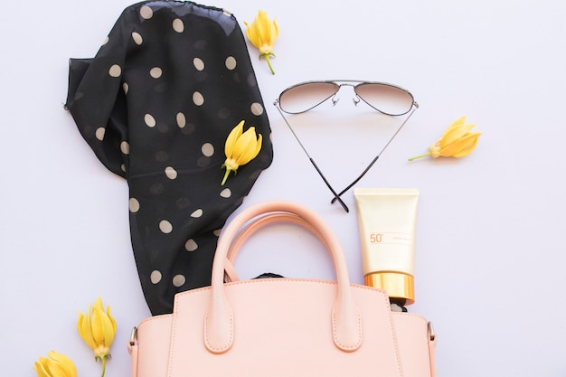 Accessories of lifestyle woman relax