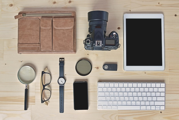 Accessories of photographer