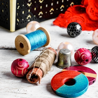 Accessories seamstress and needlework items