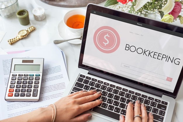 Account assets audit bank bookkeeping finance concept Free Photo