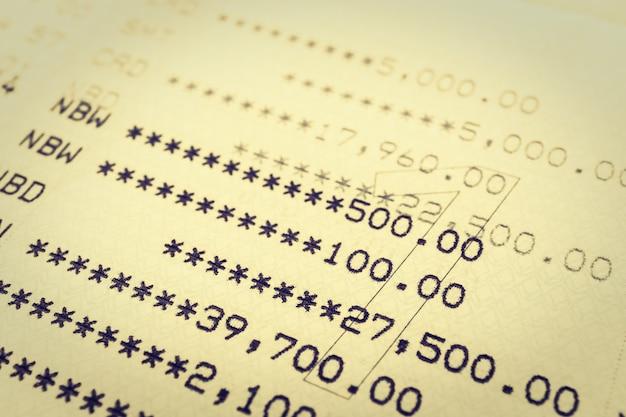 Account paper debt income bank