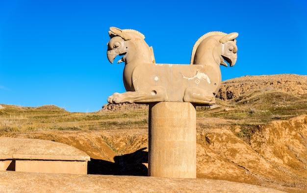 Achaemenid griffin at persepolis - iran