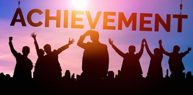 성취와 비즈니스 목표 성공 개념