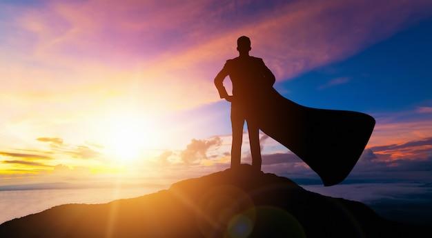 Концепция успеха достижения и цели бизнеса. Premium Фотографии