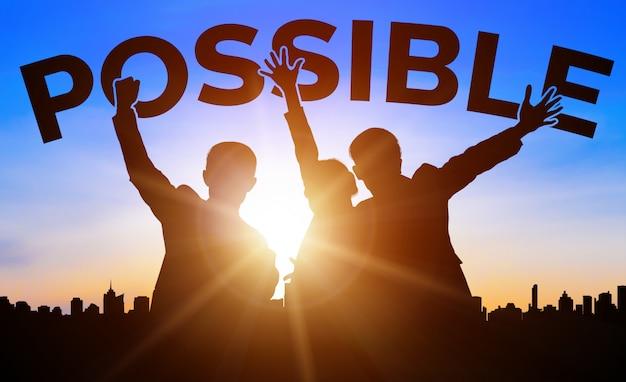 Achievement and business goal success concept.