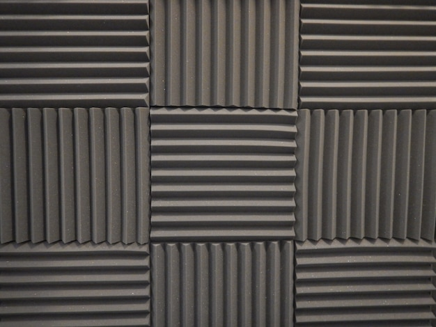 Acoustic foam in studio