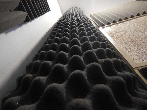 Acoustic foam in studio
