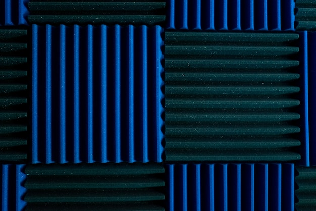 Acoustic insulation panels in a music recording studio.
