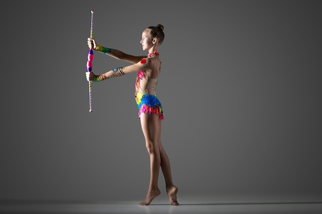 Acrobat with juggling sticks