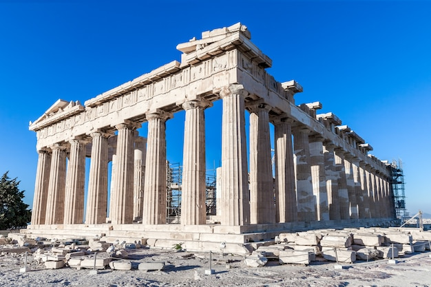 Acropolis in athens on a sunny day