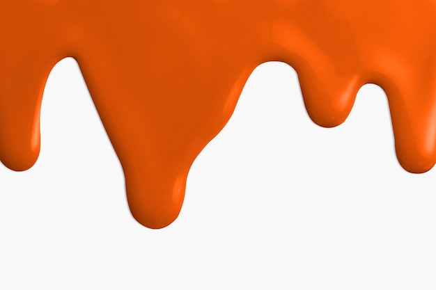 オレンジ色のアクリル絵の具