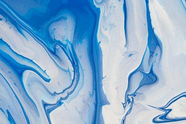 アクリル塗料、青と白