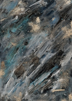 Acrylic paint modern green and gold abstract painting, modern contemporary art, wallpaper. marble luxury texture.