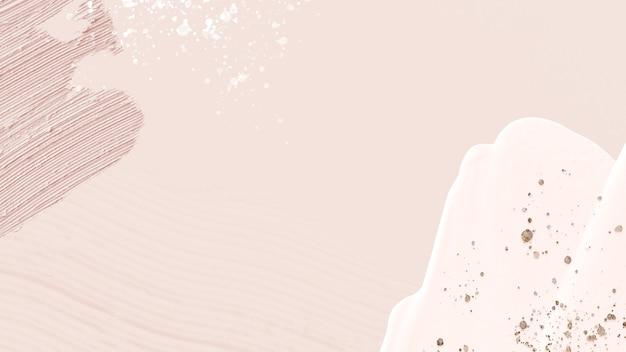 Cornice di texture di vernice acrilica su rosa pastello