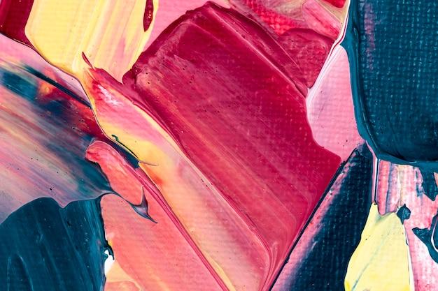 ピンクの抽象的なスタイルの創造的なアートのアクリル絵の具テクスチャ背景
