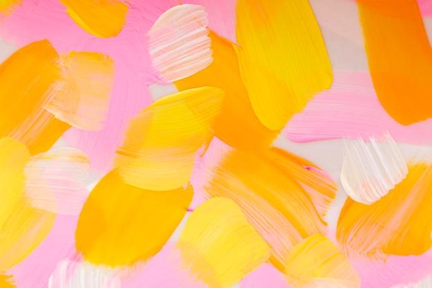 분홍색 미적 스타일의 창조적 인 예술의 아크릴 페인트 질감 배경