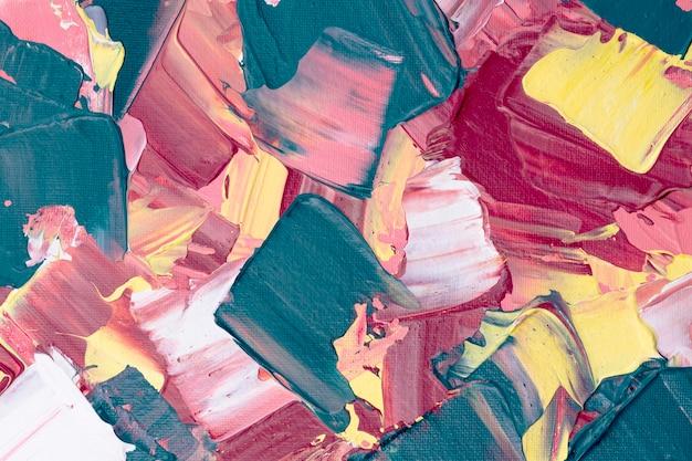 Fondo strutturato della pittura acrilica nell'arte creativa di stile astratto rosa