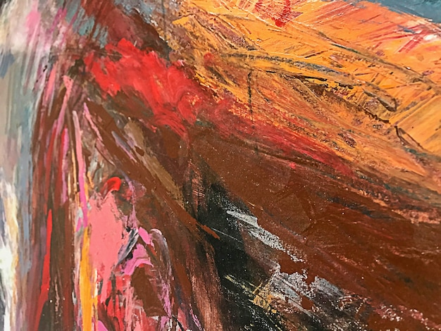 Acrylic paint textures, impasto, hand painted on canvas. the texture of paint on canvas.