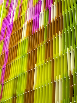 Acrylic plastic sheet interior vertical, color pink brown yellow colorful pattern of concept design