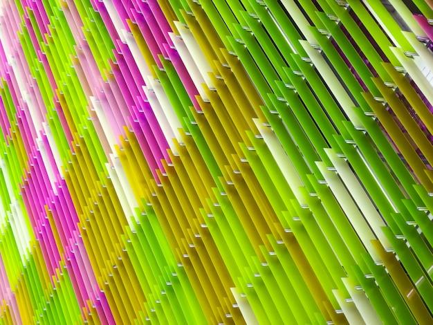 Acrylic plastic sheet interior white pink green moss