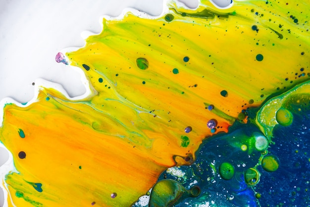 Acrylic pour color liquid marble abstract surfaces design