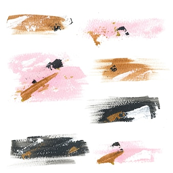 Acrylic textures stains