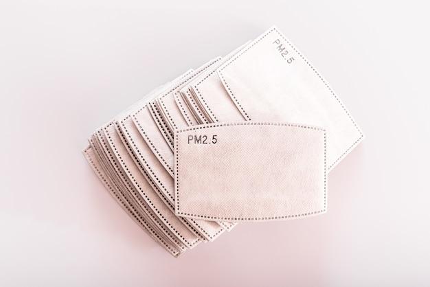 활성탄 필터 pm2 5, 재사용 가능한 직물 위생 안면 마스크 용 여과지
