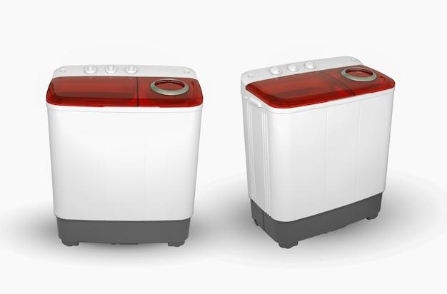 Активатор стиральной машины на белом фоне, две позиции изображения