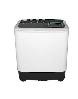 흰색 배경에 두 개의 이미지 위치에 있는 활성제 세탁기