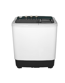 Activator washing machine on a white background two image positions