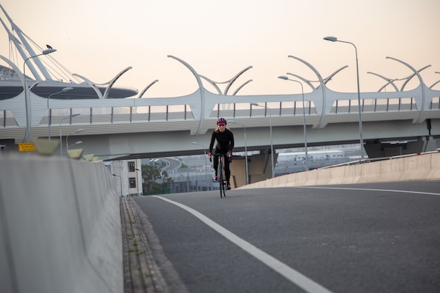 Active cycling across the bridge