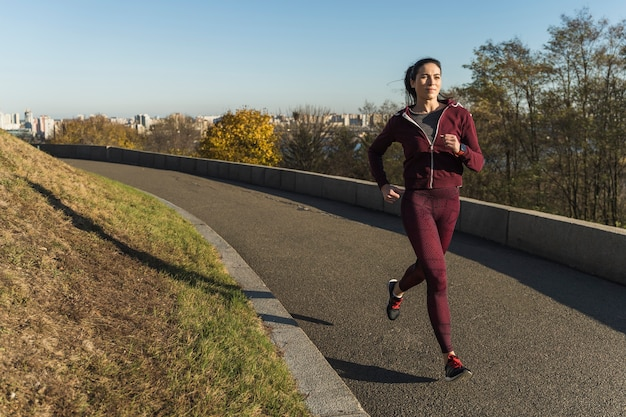Active young woman running