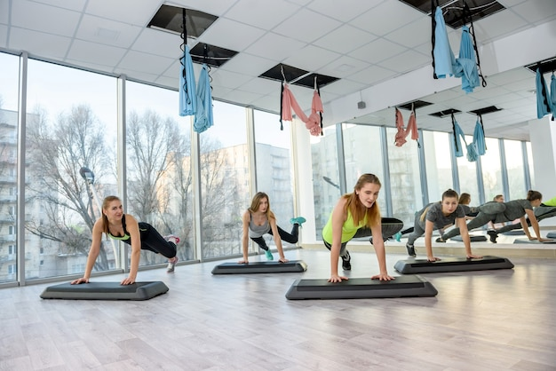 체육관에서 활동과 건강한 생활 개념