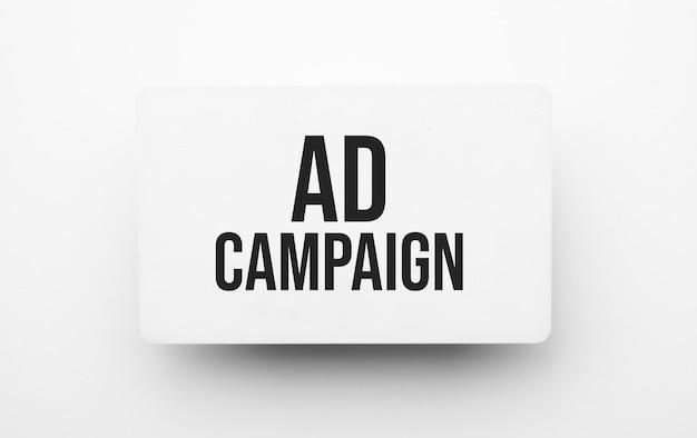 Рекламная кампания подписывается в блокноте
