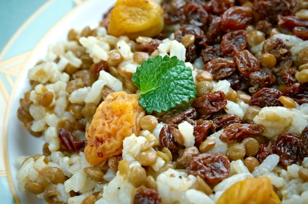 Adas polow - 이란 전통 요리, 쌀과 렌즈콩 필라프