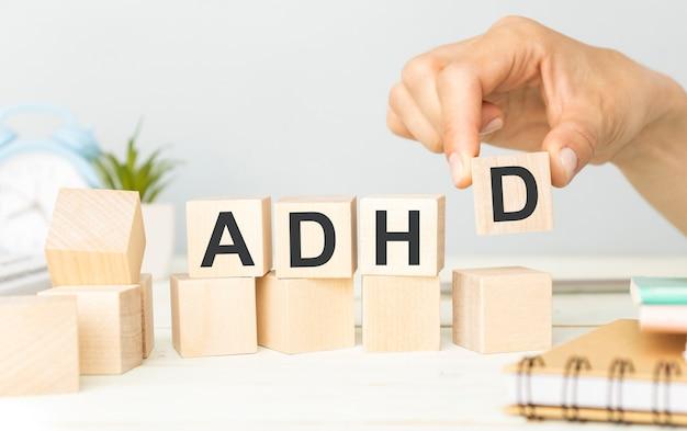Adhd abbreviation on adhd cubes