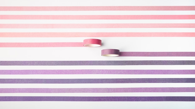 Adhesive tape rolls isolated on white