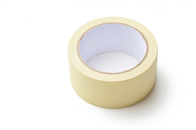 Adhesive tape  on white