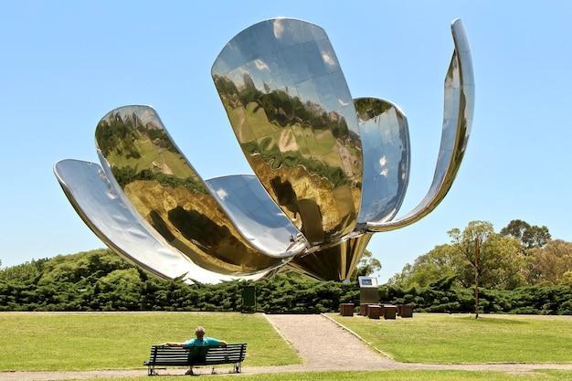 ブエノスアイレスの公園の美しさを賞賛する