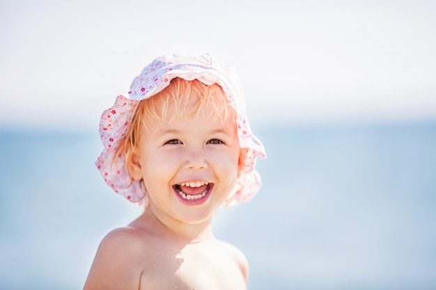 Adorable child on a beach