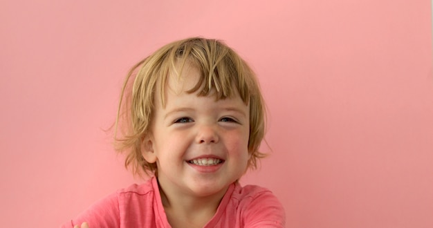 Adorable child smiling at camera