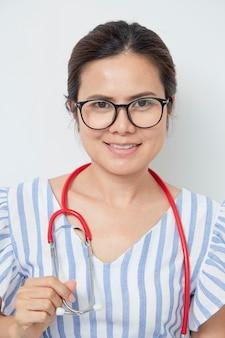 Adorable female doctor international women's day