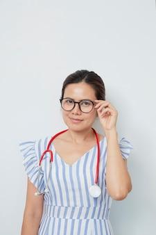 愛らしい女医国際女性の日