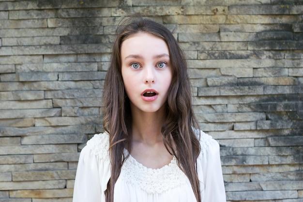 Adorable girl with nice makeup