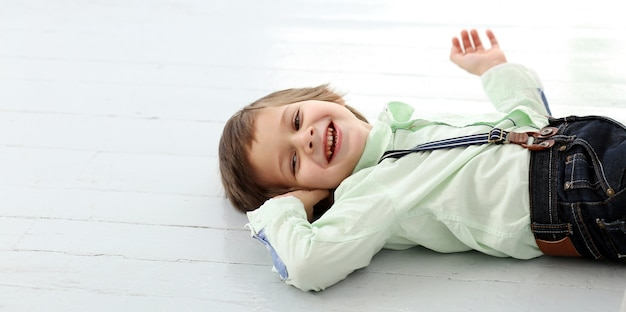 Adorable kid laughing