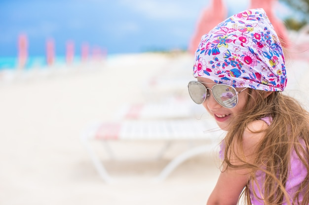 Adorable little girl at the beach